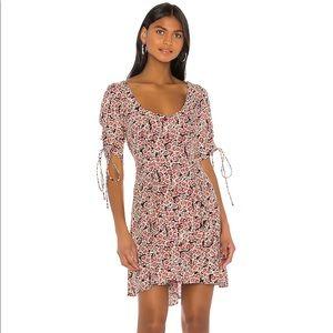 ✨HP✨Free People   NWT Floral Lace Up Mini Dress  L